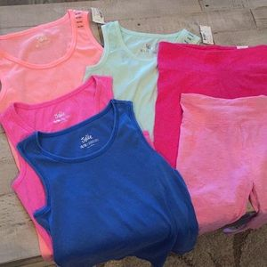 Justice Shirts & Tops - Assorted tanks and Capri leggings - NWT / NWOT